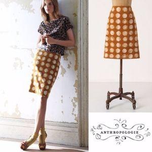 NWOT Anthropologie MAEVE Corded Dot Skirt
